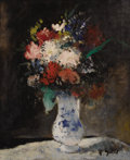 Fine Art - Painting, European:Contemporary   (1950 to present)  , FRANÇOIS GALL (French 1912-1987). The Blue Vase. Oil onoriginal unlined canvas. 26-1/2 x 21-1/2 inches (67.3 x 54.6 cm)...