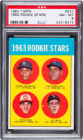 Baseball Cards:Singles (1960-1969), 1963 Topps Pete Rose - 1963 Rookie Stars #537 PSA NM-MT 8. ...