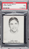 Baseball Cards:Singles (1940-1949), 1947 Tip Top Bread Yogi Berra PSA NM 7 - Pop One, Only One Higher....