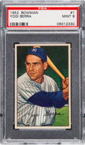 Baseball Cards:Singles (1950-1959), 1952 Bowman Yogi Berra #1 PSA Mint 9 - None Higher. ...