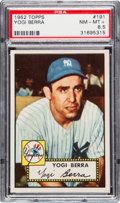 Baseball Cards:Singles (1950-1959), 1952 Topps Yogi Berra #191 PSA NM-MT+ 8.5 - Pop Two, Only TwoHigher. ...