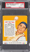 Baseball Cards:Singles (1950-1959), 1955 Red Man Yogi Berra (With Tab) #AL16 PSA Mint 9 - Pop One, NoneHigher. ...
