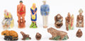 Miscellaneous:Gaming Collectibles, [Radio Premiums]. Set of Twelve Fould's Pasta Tarzan Figurines(Complete). [Fould's Milling Co., n.d., circa 1932]....
