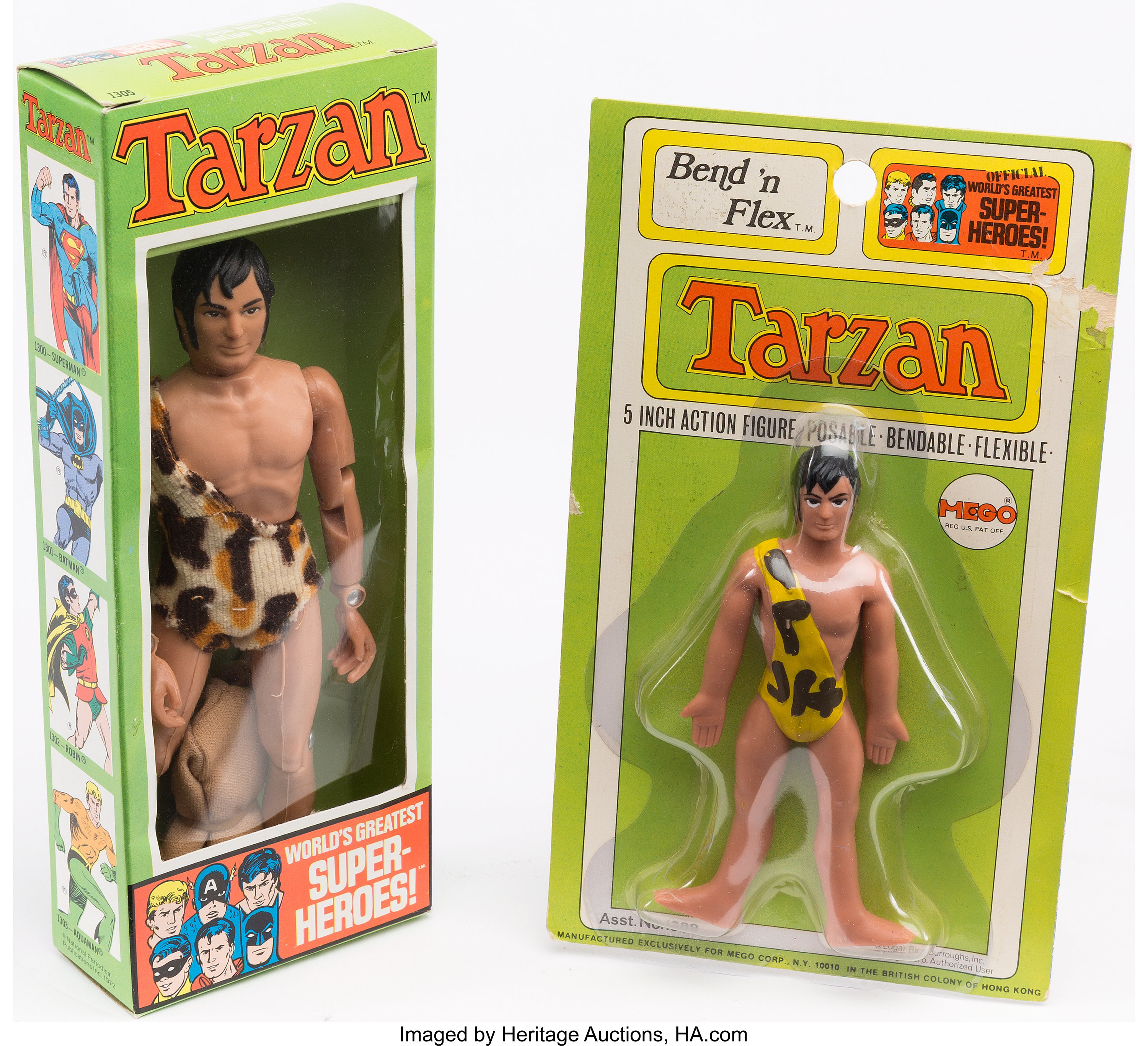 "MEGO 8/"" TARZAN BOX ONLY"