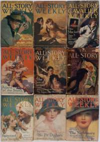 [Periodicals.] [Edgar Rice Burroughs.] Group of Thirty-Eight Pulp Magazines [and:] Bound Collection of