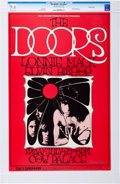 Music Memorabilia:Posters, The Doors Cow Palace Concert Poster BG-186 Signed By Artist RandyTuten CGC 9.6 (Bill Graham, 1969)....