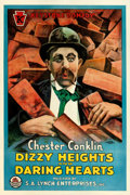 "Movie Posters:Comedy, Dizzy Heights and Daring Hearts (Keystone/S.A. Lynch, 1915). OneSheet (27"" X 41"").. ..."