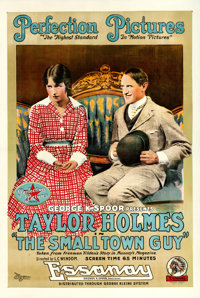 """The Small Town Guy (Essanay, 1917). One Sheet (27"""" X 41"""")"""