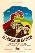 "Movie Posters:Drama, The Grapes of Wrath (20th Century Fox, 1947). First Post-WarRelease French Half Grande (31"" X 46.5"") Bernard Lancy Artwork...."