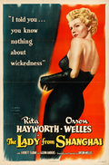 "Movie Posters:Film Noir, The Lady from Shanghai (Columbia, 1947). One Sheet (27"" X 41"").. ..."