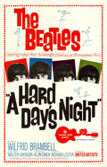 "Movie Posters:Rock and Roll, A Hard Day's Night (United Artists, 1964). One Sheet (27"" X 41"").. ..."
