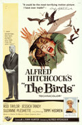"Movie Posters:Hitchcock, The Birds (Universal, 1963). One Sheet (27"" X 41"") & Program(8.5"" X 11"").. ... (Total: 2 Items)"