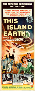 "Movie Posters:Science Fiction, This Island Earth (Universal International, 1955). Insert (14"" X36"") Reynold Brown Artwork.. ..."