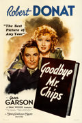 """Movie Posters:Drama, Goodbye, Mr. Chips (MGM, 1939). One Sheet (27"""" X 41"""") Style C.. ..."""