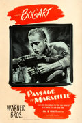 "Movie Posters:War, Passage to Marseille (Warner Brothers, 1944). One Sheet (27"" X41"").. ..."
