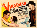 "Movie Posters:Western, The Virginian (Paramount, R-1935). Half Sheet (22"" X 28"") & Lobby Card (11"" X 14"").. ... (Total: 2 Items)"