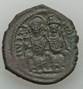 Ancients:Byzantine, Ancients: Justin II & Sophia (AD 565-578). AE follis (14.08gm)....
