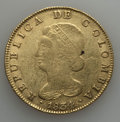 Colombia, Colombia: Republic gold 8 Escudos 1834-RS F/VF,...