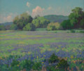 Fine Art - Painting, American:Modern  (1900 1949)  , Maurice Braun (American, 1877-1941). Texas Bluebonnets. Oilon canvas. 20 x 24 inches (50.8 x 61.0 cm). Signed lower rig...