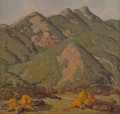 Fine Art - Painting, American:Modern  (1900 1949)  , Ralph Holmes (American, 1876-1963). Broken Hills. Oil oncanvas. 32 x 34 inches (81.3 x 86.4 cm). Signed and titled on a...