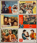 """Movie Posters:Adventure, Davy Crockett and the River Pirates & Others Lot (Buena Vista,1956). Lobby Cards (9) & Title Lobby Cards (2) (11"""" X 14"""").A... (Total: 11 Items)"""