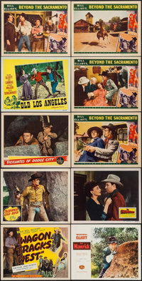 """Wagon Tracks West & Others Lot (Republic, 1943). Title Lobby Card & Lobby Cards (17) (11"""" X 14""""). West..."""