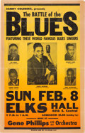 Music Memorabilia:Posters, Joe Turner/Battle Of The Blues Elks Hall Concert Poster (1948)....
