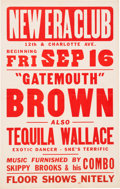 Music Memorabilia:Posters, Gatemouth Brown New Era Club Concert Poster (1955)....