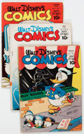 Golden Age (1938-1955):Cartoon Character, Walt Disney's Comics and Stories Group of 37 (Dell, 1943-55)Condition: Average FR/GD.... (Total: 37 Comic Books)