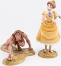 Books:Art & Architecture, [Disneyiana]. Pair of Collectible Figurines from Disney's Tarzan. Walt Disney Classics Collection, 1999.... (Total: 2 Items)