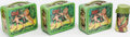 Miscellaneous:Lunchboxes, [Tarzan]. Group of Metal Three Lunch Boxes with One Thermos.[Aladdin, 1967-1968].... (Total: 4 Items)