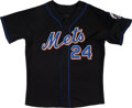 Baseball Collectibles:Uniforms, 2007 Rickey Henderson Game Worn New York Mets Coach's Jersey. ...