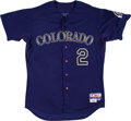 Baseball Collectibles:Uniforms, 2012 Troy Tulowitzki Game Worn Colorado Rockies Jersey. ...