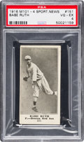 Baseball Cards:Singles (Pre-1930), 1916 M101-4 Sporting News Babe Ruth Rookie #151 PSA VG-EX 4. ...