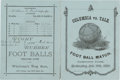 Football Collectibles:Programs, 1880 Columbia vs. Yale Football Program with Walter Camp....