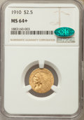 Indian Quarter Eagles, 1910 $2 1/2 MS64+ NGC. CAC....