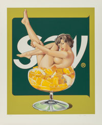 Mel Ramos (b. 1935) Miss Fruit Salad, 1990 Screenprint in colors on heavy wove paper 38-1/2 x 32