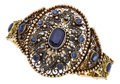 Estate Jewelry:Bracelets, Sapphire, Diamond, Gold, Silver Bracelet, French. ...