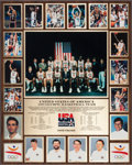 Autographs:Baseballs, 1992 Olympic Games USA Basketball Dream Team Plaque Presented toDavid Fischer, M.D. ...