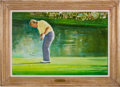 Autographs:Bats, 1986 Masters, Augusta National Golf Club, Augusta, GA: Do YouBelieve in Magic?--Jack Nicklaus Original Painting....
