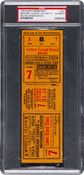 Baseball Collectibles:Tickets, 1924 World Series Game Seven Full Ticket from Walter Johnson'sPersonal Scrapbook, PSA Authentic. ...
