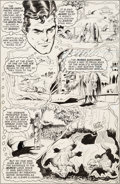 Original Comic Art:Panel Pages, Curt Swan and Murphy Anderson Superman #267 Story Page 6Original Art (DC, 1973)....