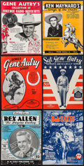 """Movie Posters:Western, Gene Autry & Others Lot (West'rn Music Publishing, 1942). Song Books (22) (Multiple Pages, approx. 9"""" X 12""""). Western.. ... (Total: 22 Items)"""