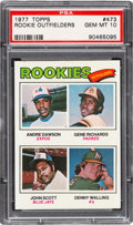 Baseball Cards:Singles (1970-Now), 1977 Topps Andre Dawson/Rookie Outfielders #473 PSA Gem Mint 10. ...