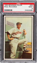 Baseball Cards:Singles (1950-1959), 1953 Bowman Color Paul Richards #39 PSA Mint 9 - Only One Higher...