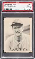 Baseball Cards:Singles (1930-1939), 1939 Play Ball Milt Shoffner #87 PSA Mint 9 - Pop One With NoneHigher! ...