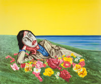 Zeng Fanzhi (b. 1964) Untitled (Reclining Figure), 1998 Lithograph in colors on wove paper 39 x 4
