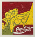 Prints:Contemporary, Wang Guangyi (b. 1957). Coca Cola (red), from The GreatCriticism series, 2006. Lithograph printed in colors on ...