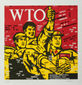 Prints:Contemporary, Wang Guangyi (b. 1957). WTO, from The Great Criticismseries, 2006. Lithograph in colors on wove paper. 26-1/2 x...