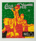 Prints, Wang Guangyi (b. 1957). Coca Cola (green) from The Great Criticism series, 2006. Lithograph printed in colors. 29-1/...
